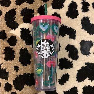 Starbucks Sunglasses/Lips Tumbler